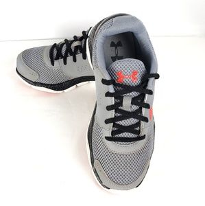 UnderArmour Micro G Gray/Red Boys Athletic Shoe 6Y
